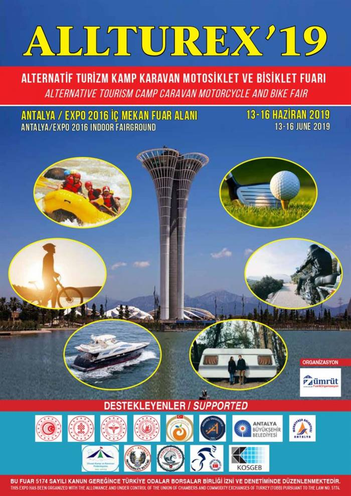 Allturex'19 Alternatif Turizm, Kamp, Karavan, Motorsiklet ve Bisiklet Fuarı