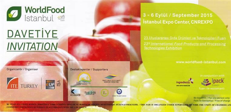 23. Uluslararası Gıda Ürünleri Fuarı daveti