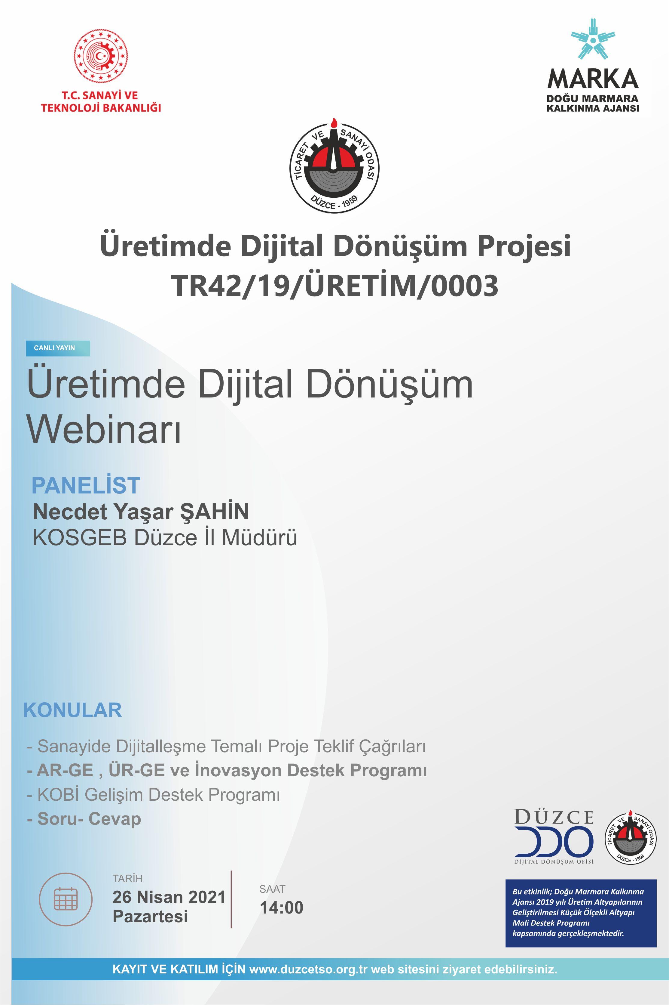 Üretimde Dijital Dönüşüm Semineri