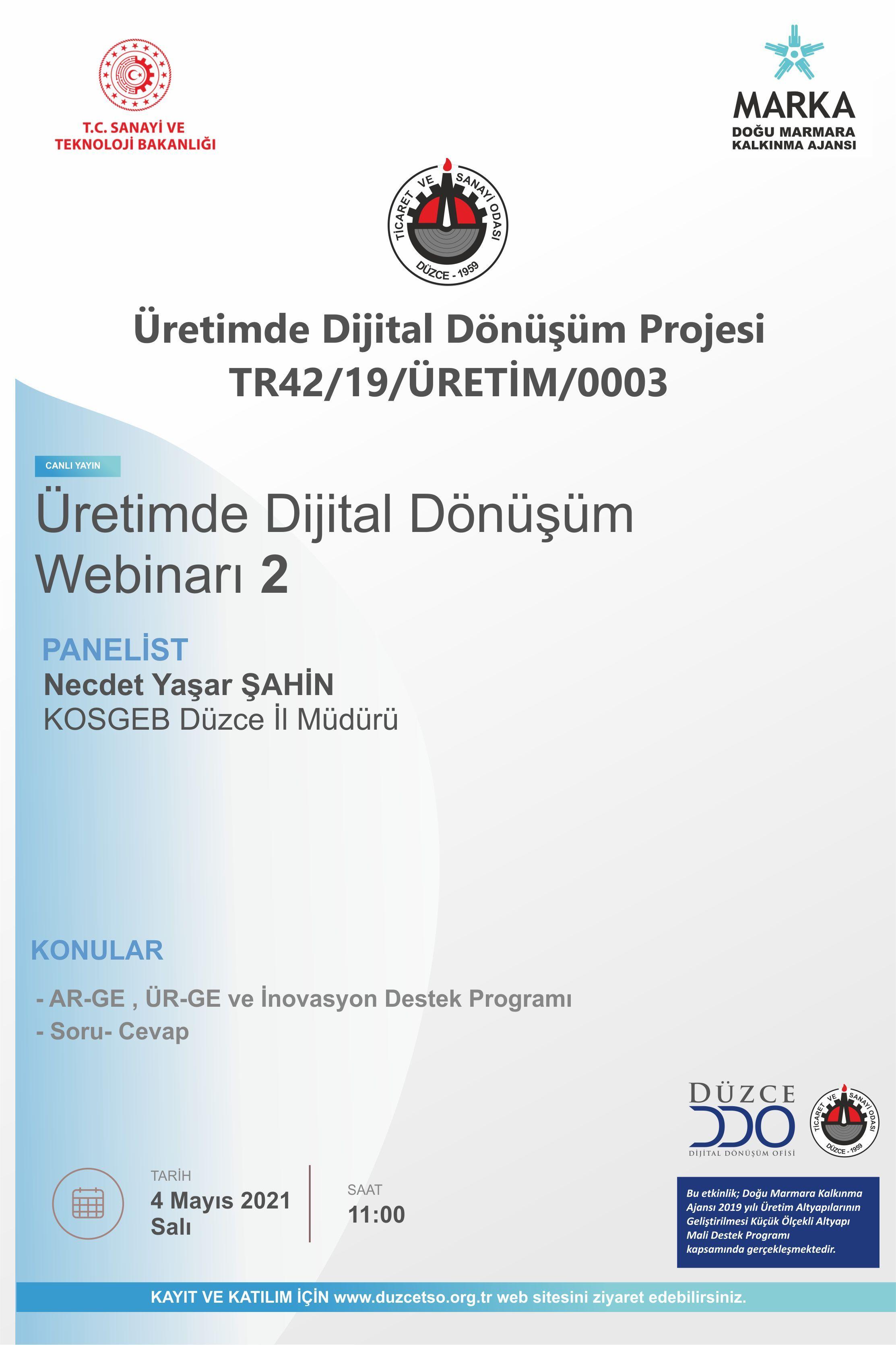 Üretimde Dijital Dönüşüm Online Semineri -2