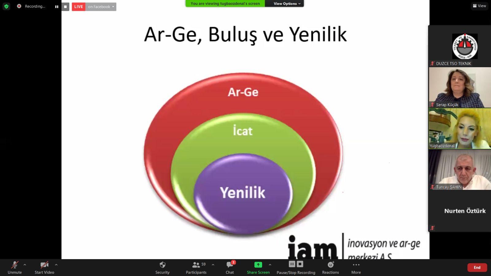 İnovasyon ve AR-GE Webinarı tamamlandı