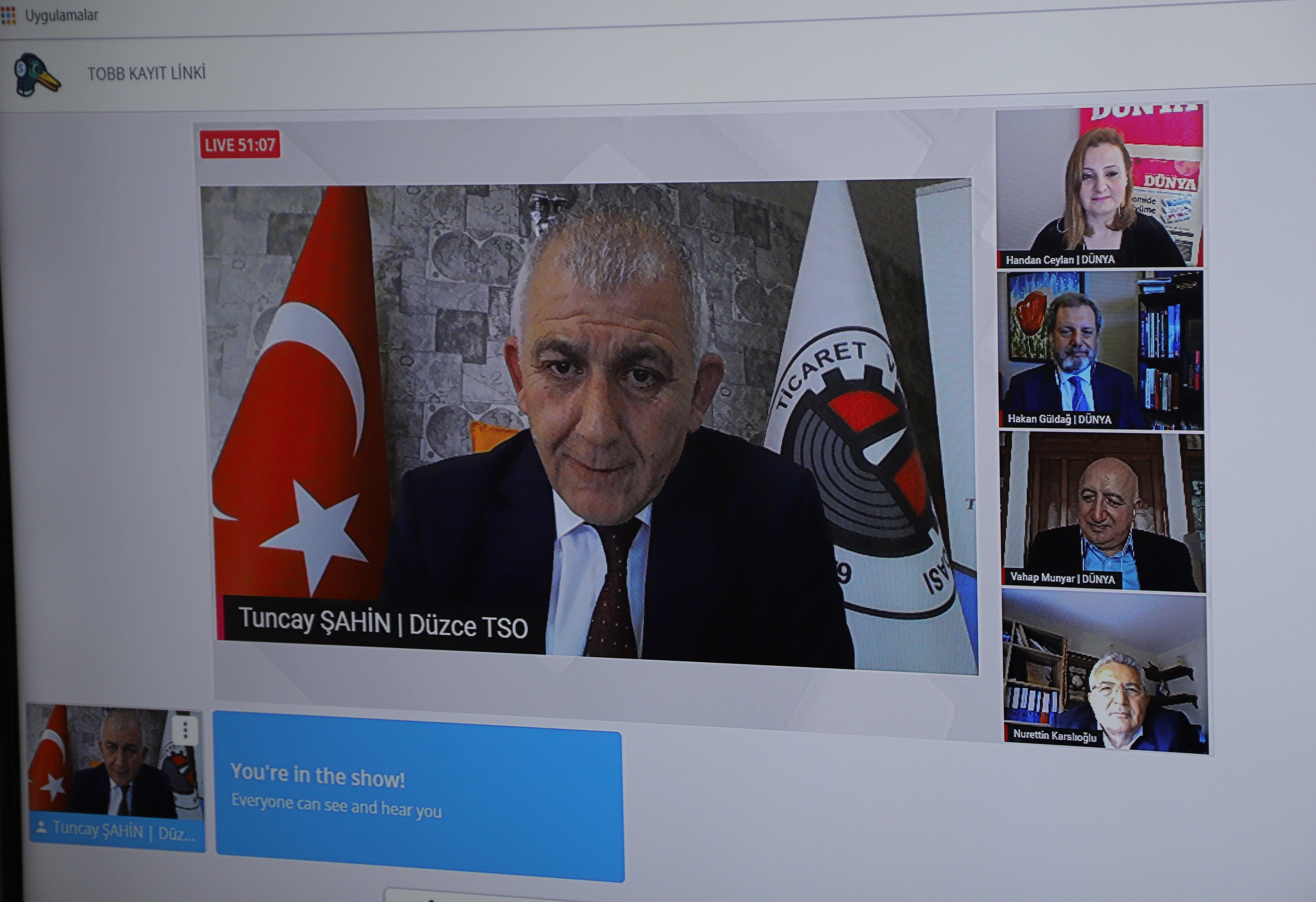 Tuncay Şahin Dünya Gazetesi'ne Konuk Oldu