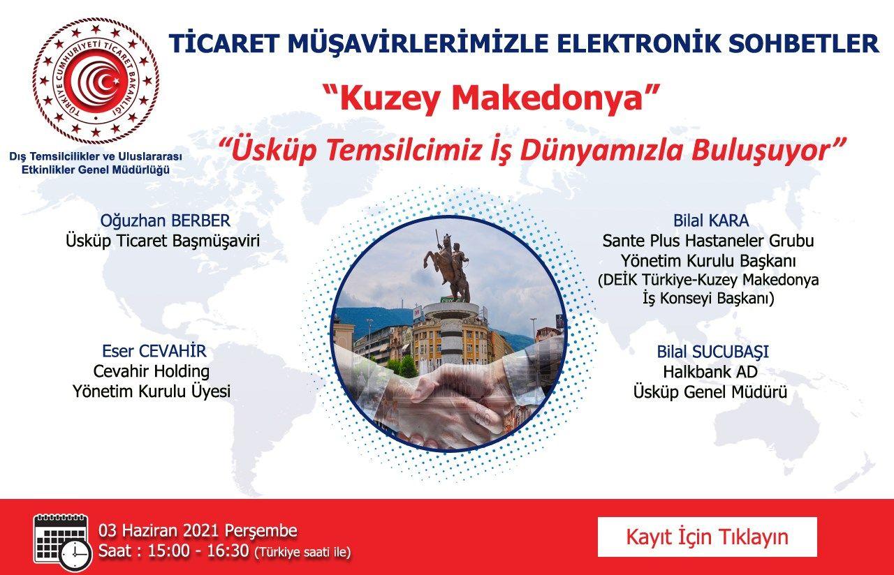 Ticaret Müşavirlerimizle Elektronik Sohbetler - Kuzey Makedonya