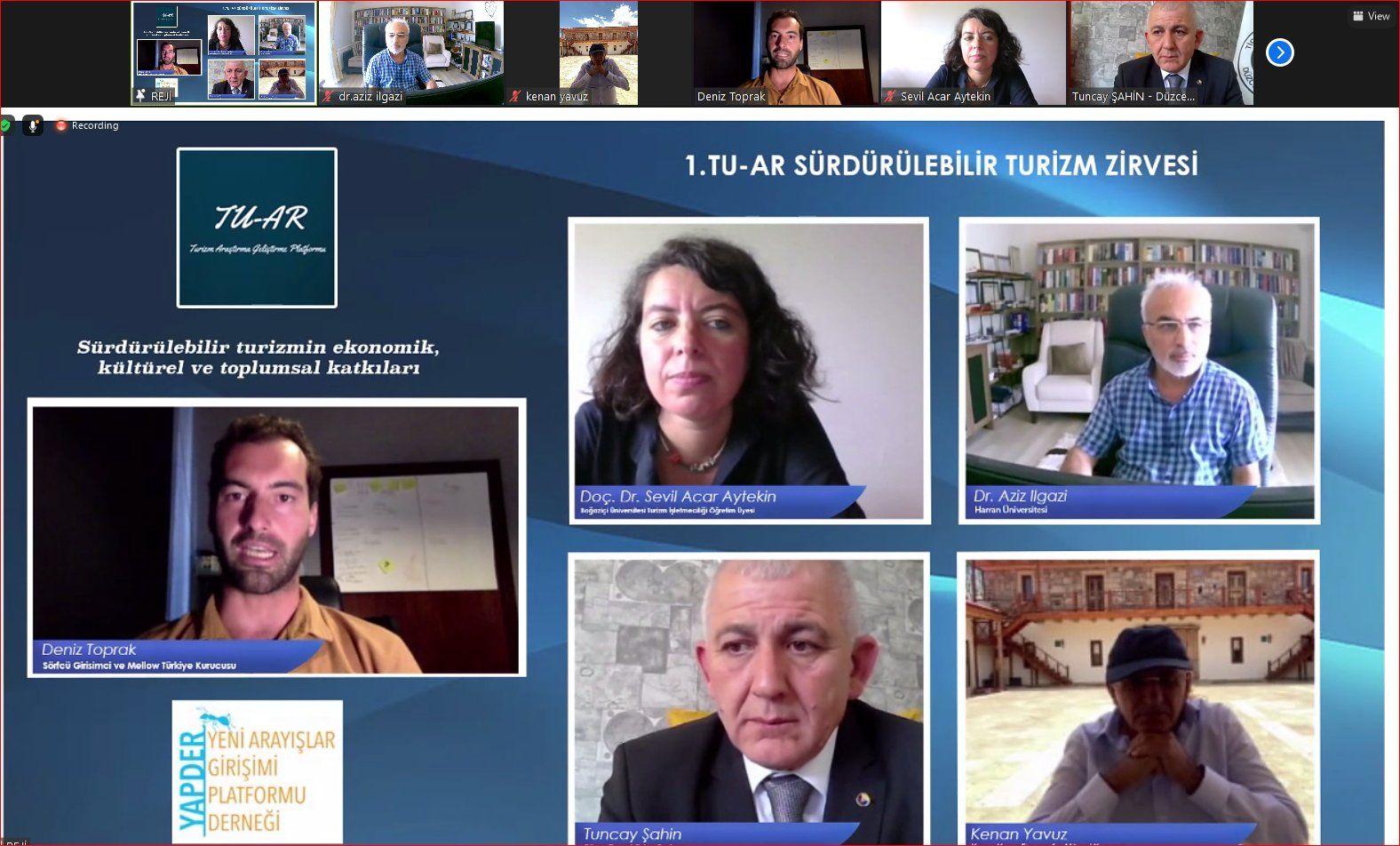 Tuncay Şahin 1. Tu-Ar Sürdürebilir Turizm Zirvesi'ne Konuk Oldu
