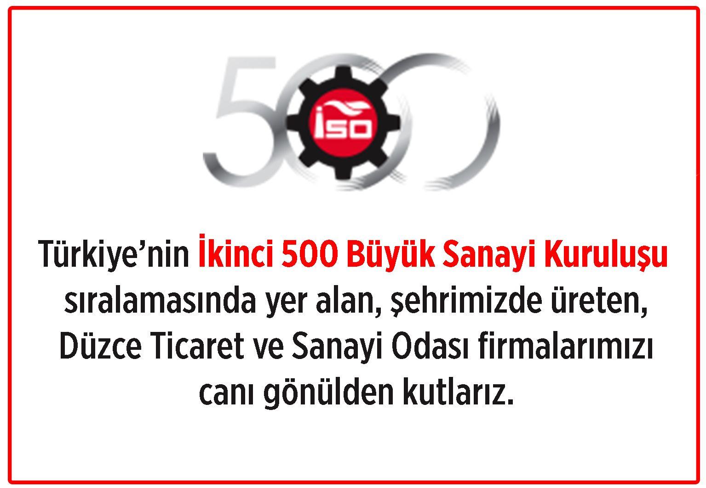 İkinci 500'de 6 Düzceli Firma