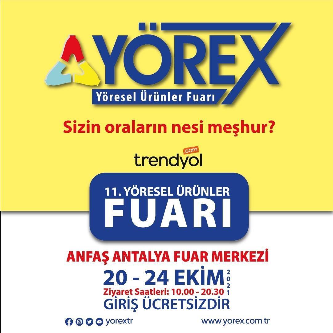 Antalya 11.YÖREX–Yöresel Ürünler Fuarı